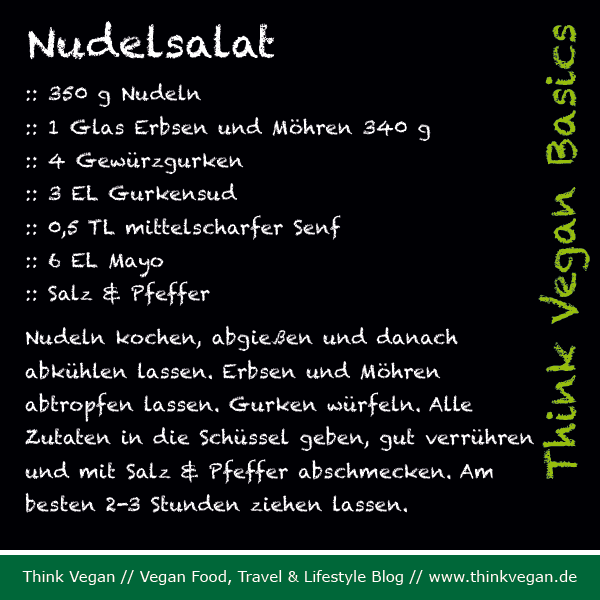 Think Vegan Basics: Nudelsalat