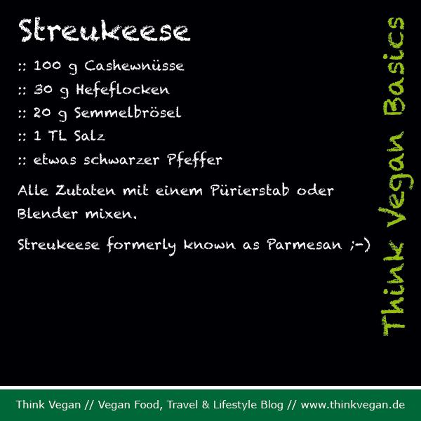 Think Vegan Basics: Streukeese formerly known as Parmesan ;-)