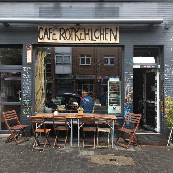 Café Rotkehlchen . Café mit veganen Optionen