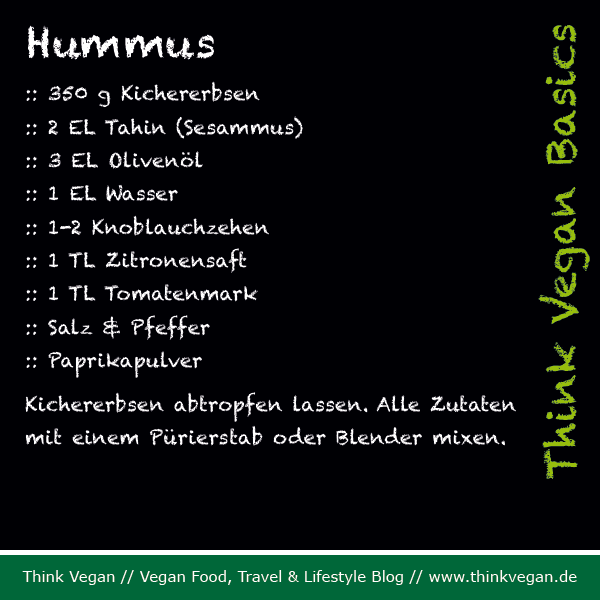 Think Vegan Basics: Hummus