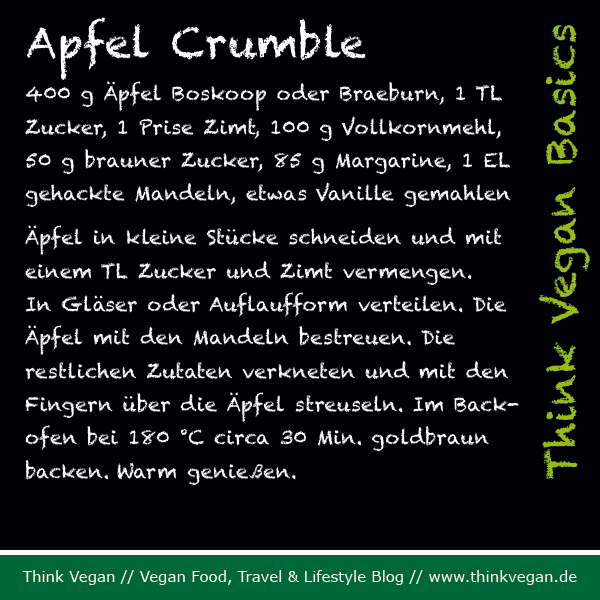 Think Vegan Basics: Apfel Crumble