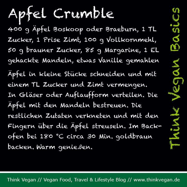 Think Vegan Basics: Apfel Crumble