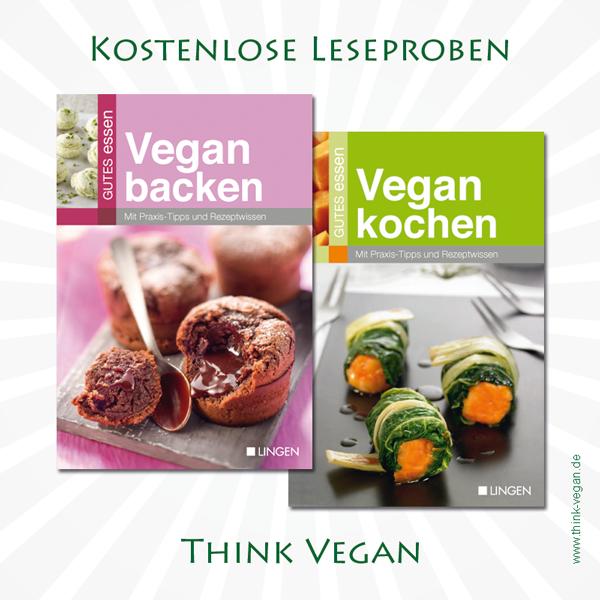 Vegan kochen und Vegan backen . Kostenlose Leseproben