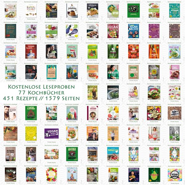 77 Kostenlose Leseproben . Vegane Kochbücher