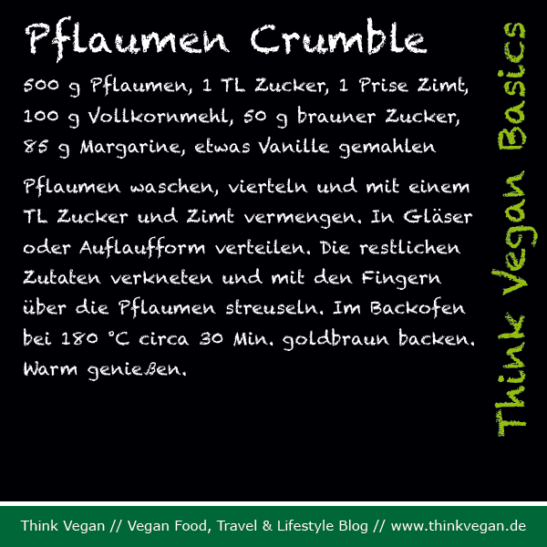 Think Vegan Basics: Pflaumen Crumble