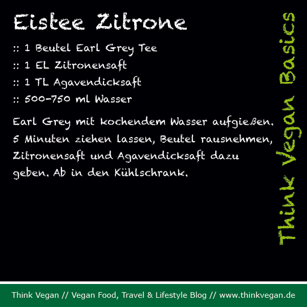 Think Vegan Basics: Eistee Zitrone