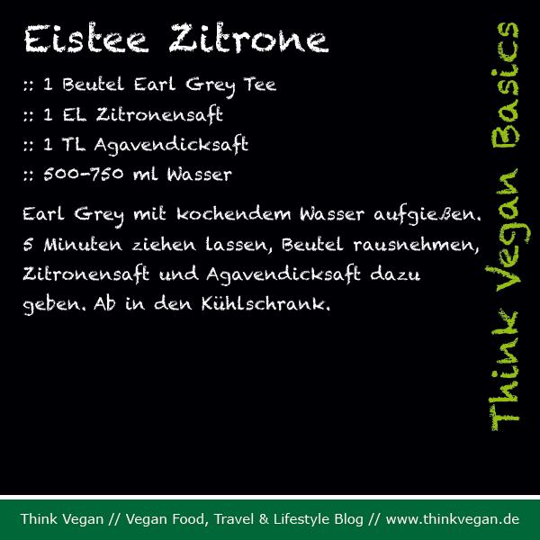 Think Vegan Basics: Eistee Zitrone