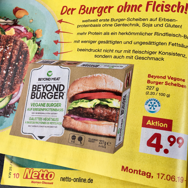 Beyond Burger bei Netto Marken-Discount