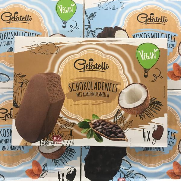 Gelatelli Schokoladeneis mit Kokosnussmilch bei Lidl