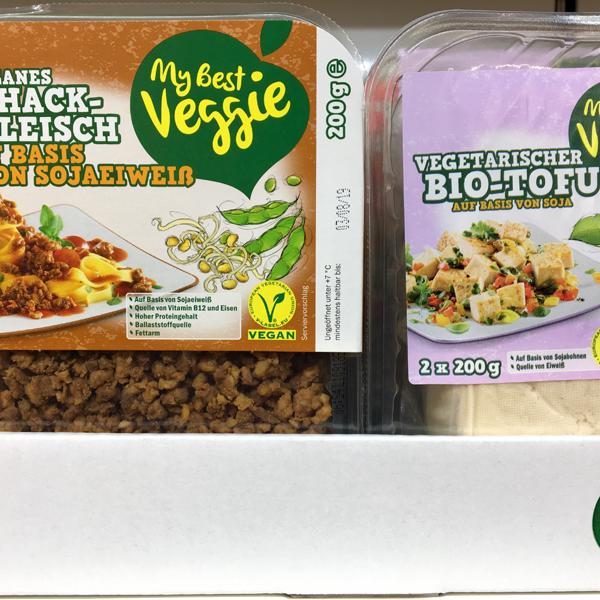 My Best Veggie Veganes Hackfleisch und Bio Tofu bei Lidl