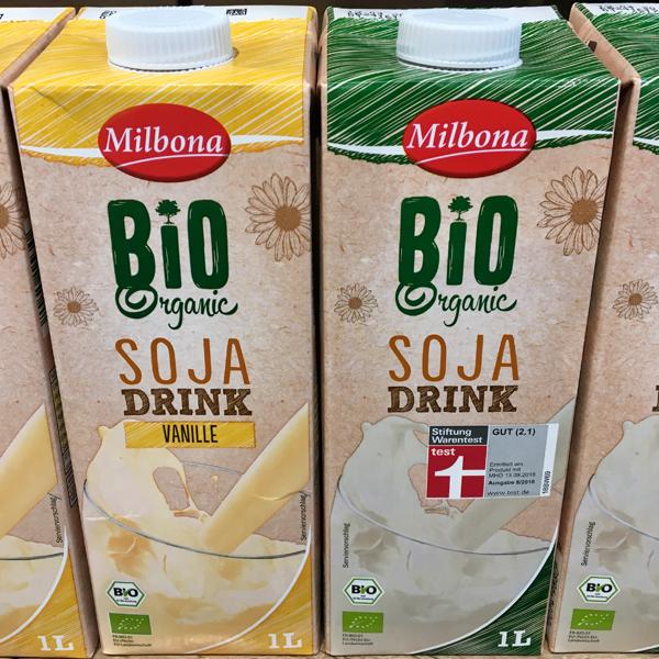 Milbona Soja Drink und Soja Drink Vanille