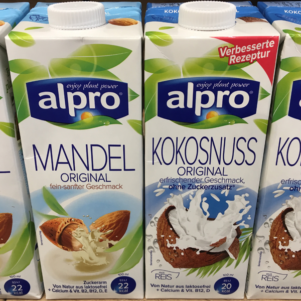 Alpro Mandel Drink Original und Kokosnuss Drink Original