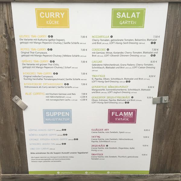 Loft Food . Restaurant mit veganen Optionen