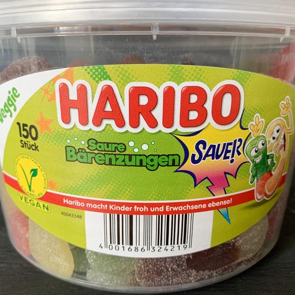 Haribo Saure Bärenzungen Vegan