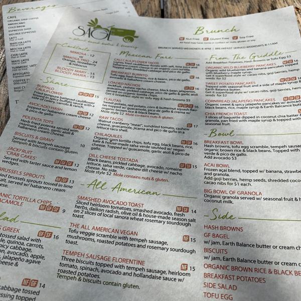 SAGE VEGAN BISTRO . Veganes Restaurant und Brauerei