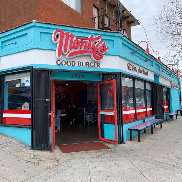 Monty's Good Burger . Veganes Burger Restaurant