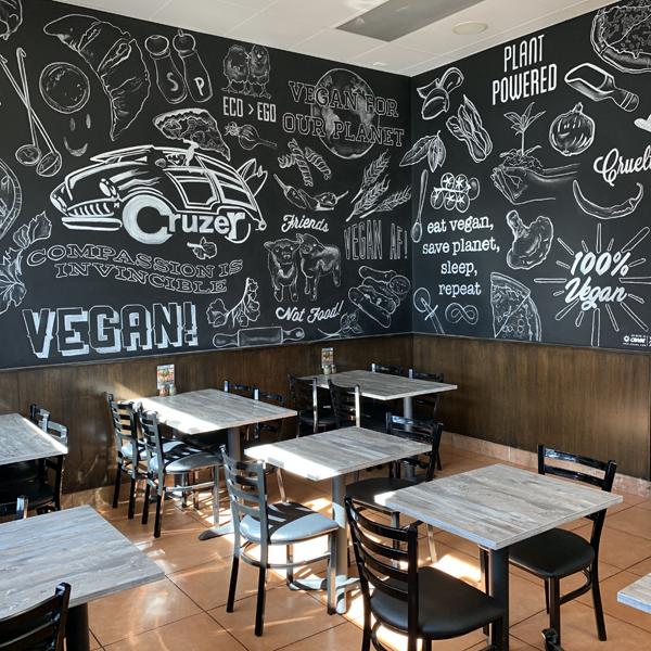 Cruzer Pizza 100 % Vegan . Vegane Pizzeria