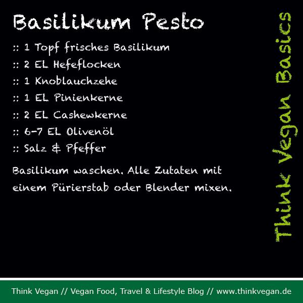Think Vegan Basics Basilikum Pesto
