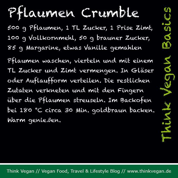 Think Vegan Basics Pflaumen Crumble