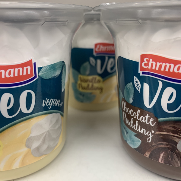 Ehrmann Veo Vegan Vanillepudding mit Sahne