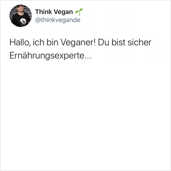Hallo, ich bin Veganer!